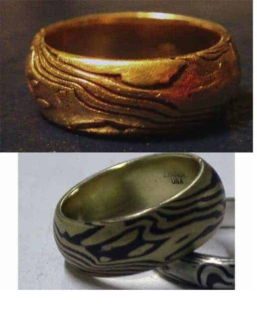 why you dont want a copper and silver mokume gane ring
